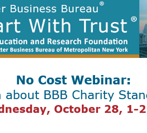 Learn about BBB Charity Standards