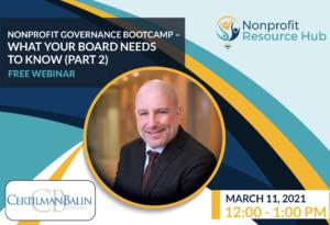 Nonprofit Governance Bootcamp